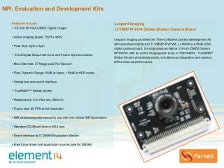 NPI: Evaluation and Development Kits