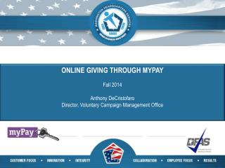 ONLINE GIVING THROUGH MYPAY Fall 2014 Anthony DeCristofaro