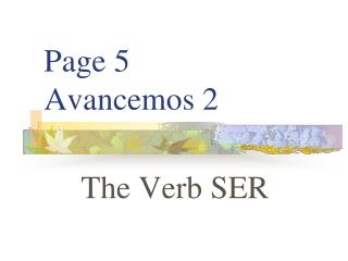 Page 5 Avancemos 2