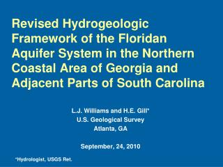 Revised Hydrogeologic Framework of the Floridan Aquifer System in the Northern Coastal Area of Georgia and Adjacent Part