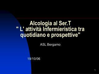 Alcologia al Ser.T