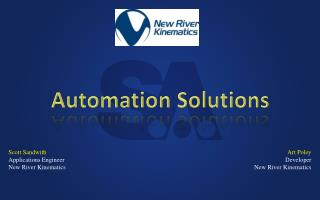 Scott Sandwith Applications Engineer New  River Kinematics