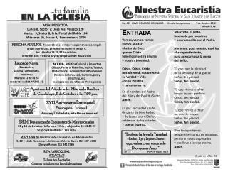 No .  407   XXVII  DOMINGO ORDINARIO      Mes del Compromiso           7 de Octubre 2012