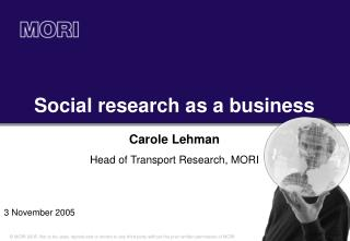 Social research as a business