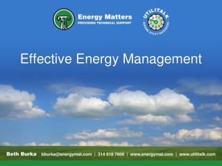Effective Energy Management