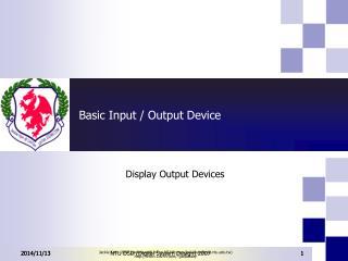 Basic Input / Output Device