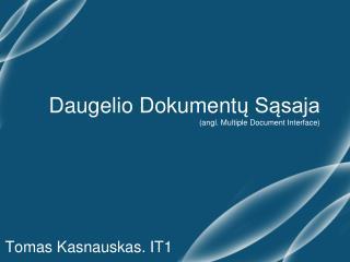 Daugelio Dokument ų Sąsaja (angl. Multiple Document Interface)