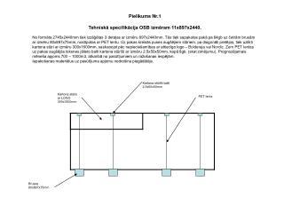 Pielikums Nr.1 Tehniskā speci f ikācija OSB izmēram 11x897x2440.