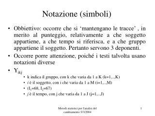 Notazione (simboli)