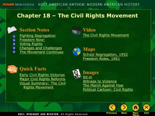 Chapter 18 – The Civil Rights Movement
