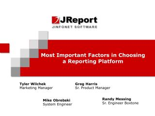 Most Important Factors in Choosing a Reporting Platform