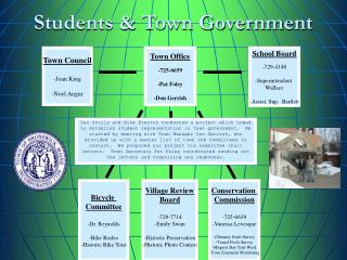 Students & Town Government