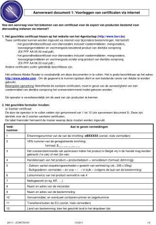 Hoe een aanvraag voor het bekomen van een certificaat voor de export van producten bestemd voor