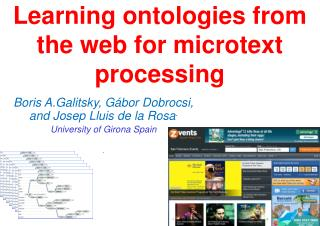 Learning ontologies from the web for microtext processing