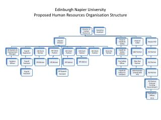 Edinburgh Napier University Proposed Human Resources Organisation Structure