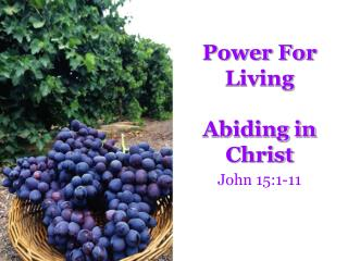 Power For Living Abiding in Christ