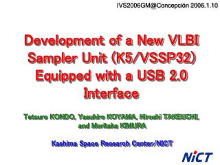 Development of a New VLBI Sampler Unit (K5/VSSP32) Equipped with a USB 2.0 Interface