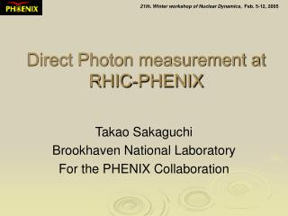 Direct Photon measurement at RHIC-PHENIX