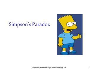 Simpson�s Paradox