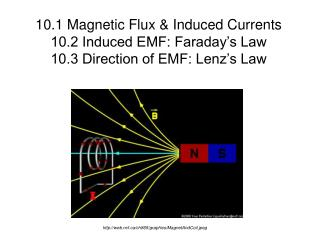 10.1 Magnetic Flux & Induced Currents 10.2 Induced EMF: Faraday�s Law