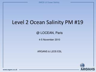 Level 2 Ocean Salinity PM #19