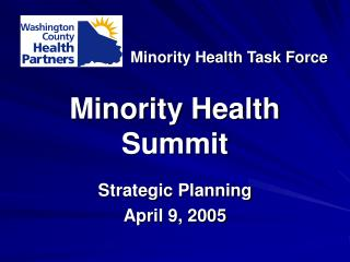 Minority Health Summit