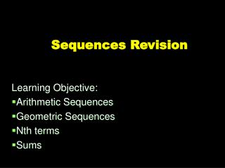 Sequences Revision