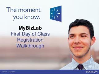 MyBizLab First Day of Class Registration Walkthrough