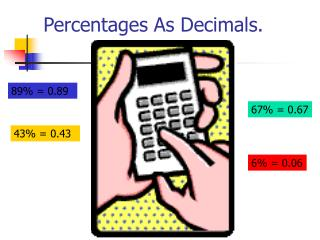 Percentages As Decimals.