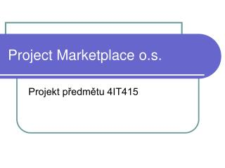Project Marketplace o.s.