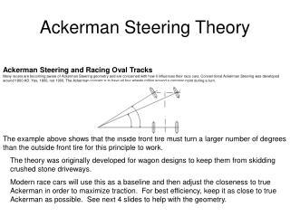 Ackerman Steering and Racing Oval Tracks