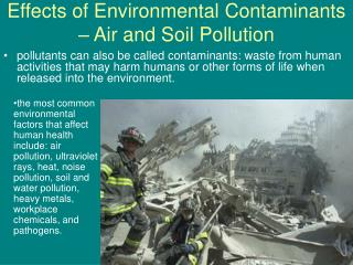 Effects of Environmental Contaminants – Air and Soil Pollution