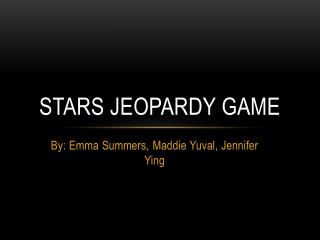 Stars Jeopardy Game