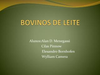BOVINOS DE LEITE