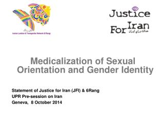 Medicalization of Sexual Orientation and Gender Identity