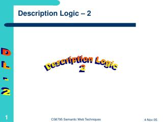 Description Logic – 2