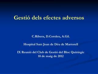 Gestió dels efectes adversos
