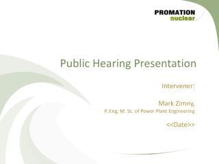 Public Hearing Presentation