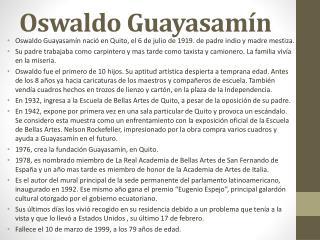 Oswaldo Guayasam�n