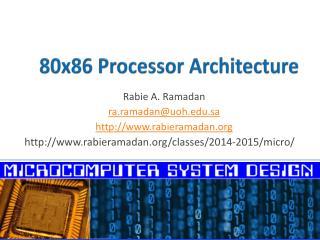80x86 Processor Architecture