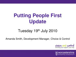Putting People First Update