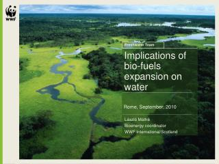 Implications of bio-fuels expansion on water