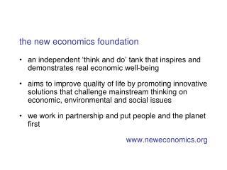 the new economics foundation