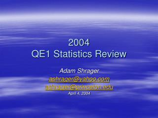 2004 QE1 Statistics Review