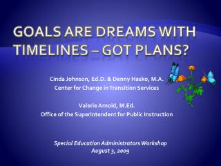 Goals Are Dreams with Timelines – Got Plans?