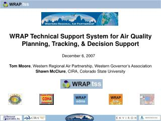 WRAP Technical Support System for Air Quality Planning, Tracking, & Decision Support