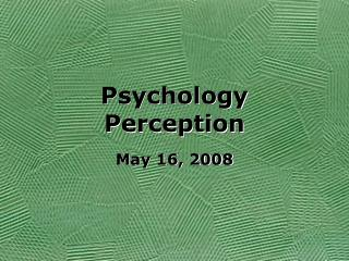 Psychology Perception