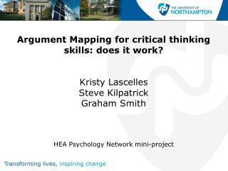 Argument Mapping for critical thinking skills: Research in progress