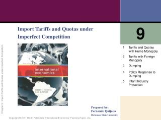 Import Tariffs and Quotas under Imperfect Competition