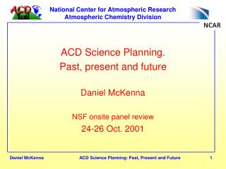 National Center for Atmospheric Research  Atmospheric Chemistry Division